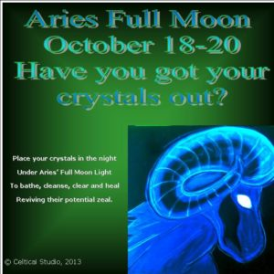 ARies have you got your crystals out