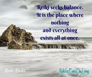 Reiki seeks balance